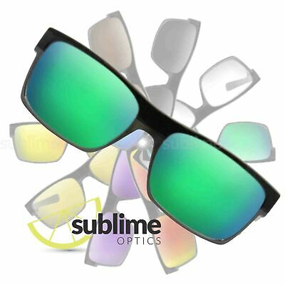POLARIZED Metallic Emerald Green Replacement Lenses For Oakley Twoface ~ Jade
