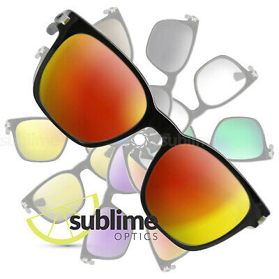 POLARIZED Metallic Fire Red Replacement Lenses For Oakley Garage Rock  OO9175
