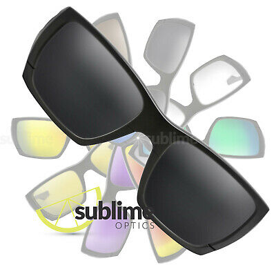 POLARIZED Black (Dark Grey) Replacement Lenses For Oakley Style Switch ~ smoke