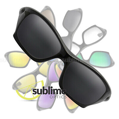 POLARIZED Black (Dark Grey) Replacement Lenses For Oakley Pit Bull ~ charcoal