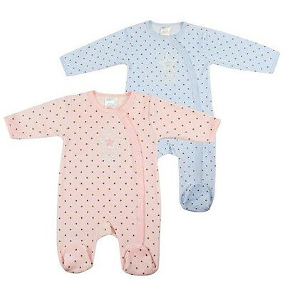 Baby 'little star' embroidered soft velour sleepsuit by BabyTown