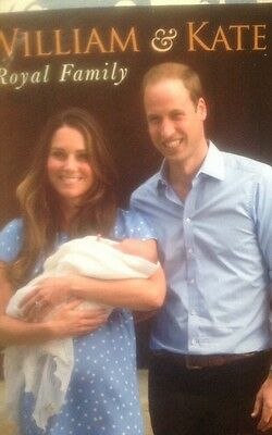 PRINCE WILLIAM AND KATE PRINCE GEORGE ROYAL FAMILY BOOK FROM ENGLAND