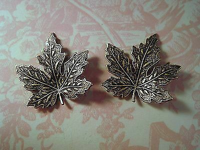 Small Oxidized Brass Maple Leaf Stampings (2) - BOS8890