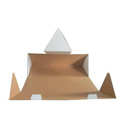 100 x Triangle Cardboard Mailing Tubes 540x210mm White Packaging Carton Box