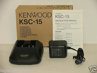 Kenwood KSC-15 Charger NiCd Batteries KNB-14, KNB-15A NEW