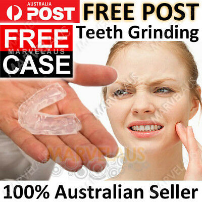FREE CASE Teeth Grinding Mouthguard Bruxism Night Grind Jaw Dental Mouth Guard