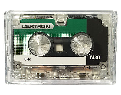 MICRO CASSETTE MICROCASSETTE TAPE CERTRON M60 for DICTATION, ANSWERING MACHINE