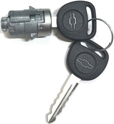 NEW CHEVY OEM Single Door Lock Cylinder W/2 OEM BOWTIE LOGO KEYS-706592 + 598007