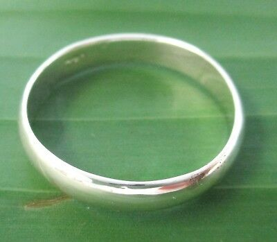 925 STERLING SILVER plain 3mm CURVED wedding band ring UNISEX size 4.5 to 14.75