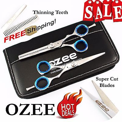 """Professional Barber Hairdressing Scissors Thinning & Hair Cutting Set 5.5"""" Shear"""