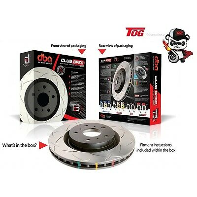 Dba4041S T3 4000 Series Slotted Rotors Holden Commodore Vt Vu Vx Vy Vz Rear Pair