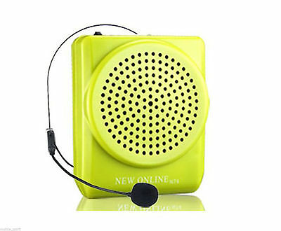 15W Portable Loud Voice Booster PA Amplifier AMP Speaker for Coachers Black