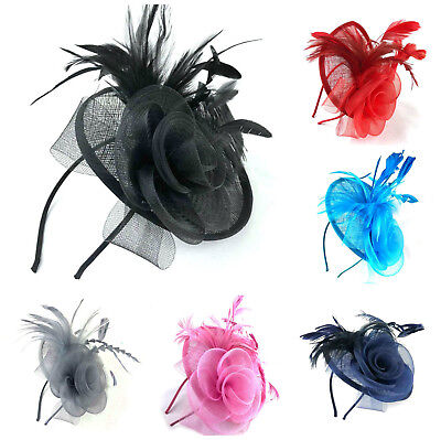 Large Headband Aliceband Hat Fascinator Weddings Ladies Day Race Royal Ascot