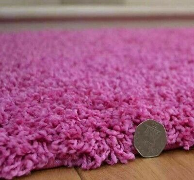 Candy Pink Shaggy Rug Soft Thick Luxurious 50 mm High Pile 160 x 220 120 x 170