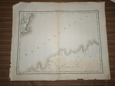 Rare Antique Map of North Africa - Tunis & Algeria   Early 19th century