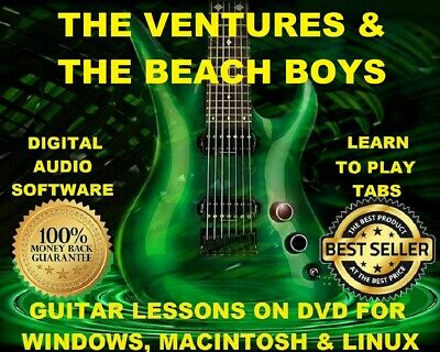 Ventures 140 & The Beach Boys 285 Guitar Tabs Software Lesson CD & 65 BTs
