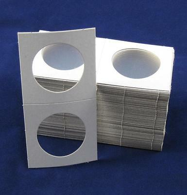 100 Cardboard 2.5x2.5 Coin Holder Mylar Flips for Silver Eagles and Crowns