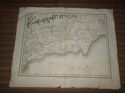Rare Antique Map of North Spain  Early 19th century