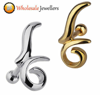 1pc New 316L Surgical Steel Tragus Cartilage Ear Earring Stud Ring Body Piercing