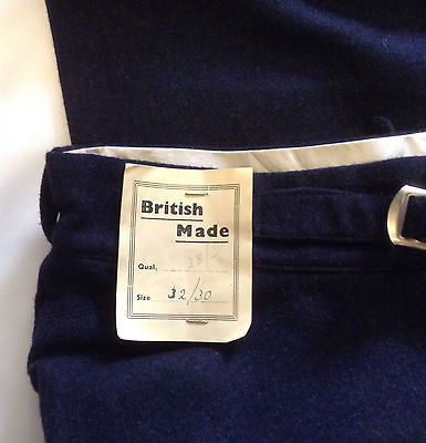 RARE 40s CC41 Utility,War-Time Rationing British Made Gents Trousers,Turn Ups