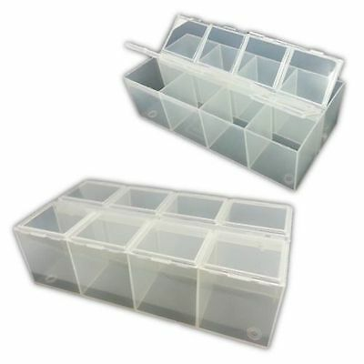 8-Compartment Plastic Bead Craft Jewellery Storage Organiser Container Box