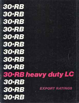 30-RB heavy duty LC export rating sales book