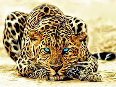 choose your size. Green Eye Leopard Home Decor Canvas Print