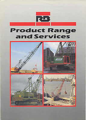 RB Product Range and Services brochure circa 1980