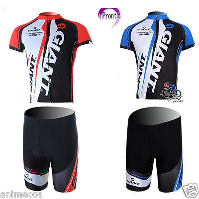 Costume Giant Powered By Sram Cycling Biker Suit Sports Tshirt Pant Jersey Tee