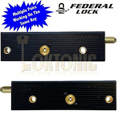 Enfield D613 Garage Door Bolts Locks Multiple Pairs All Working On The Same Key