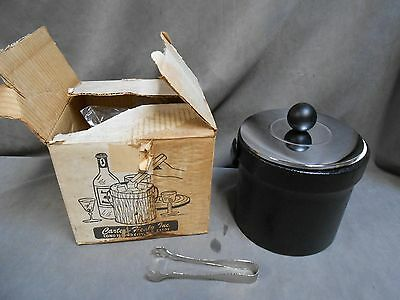 Vintage Mid Century Modern Eames Era Retro Carter Healy Ice Bucket With Box