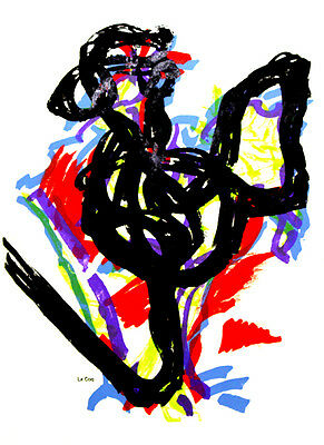 """40/""""x40/"""" SOUFLÉ D/'OIES by JEAN-PAUL RIOPELLE ABSTRACT DUCKS BIRDS IN WATER CANVAS"""