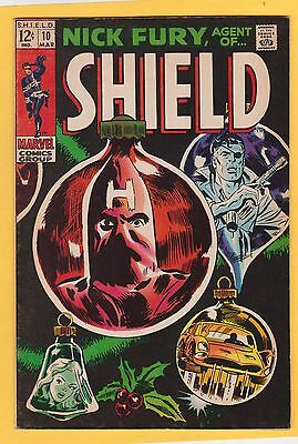 Nick Fury Agent of SHIELD #10 Marvel Comics 1969 Johnny Craig Inks FN/VF