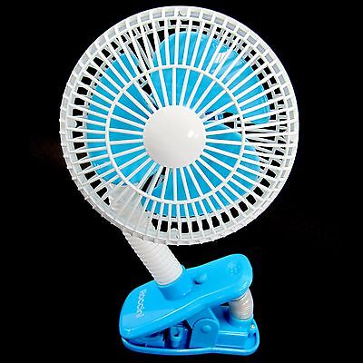 Baby Safety Clip On Stroller Fan Portable Fan For Infant Cooler Outdoor Blue
