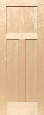 3 Panel Birch Flat Mission Shaker Stain Grade Solid Core Interior Wood Doors