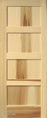 4 Panel Poplar Equal Flat Mission Stain Grade Solid Core Interior Wood Doors