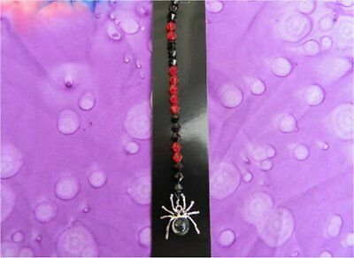 Suncatcher / Car Mirror Dangle - Goth Spider