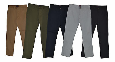 """Mens Chinos -New Men's  """"HOT RED"""" Chino Pants - Slim Fit - Sizes 28,30,32,34,36"""