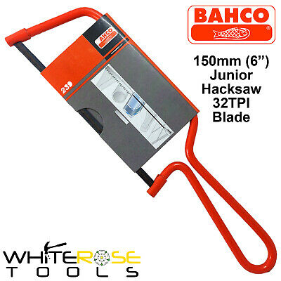 "Bahco 239 Junior Hacksaw 150mm 6"" Wire Frame with 32 TPI Metal Blade Pipe Saw"