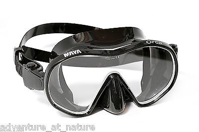 Orca Black Red Water Mask Frameless Scuba Free Diving Dive Snorkeling