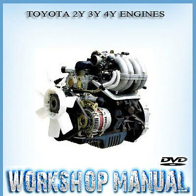 Toyota 2Y 3Y 4Y Engines Workshop Repair Service Manual In Disc