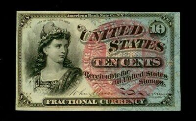1864 - 1869 Ten Cents Fractional Currency 4Th Issue Choice Cu  Note Fr #1259