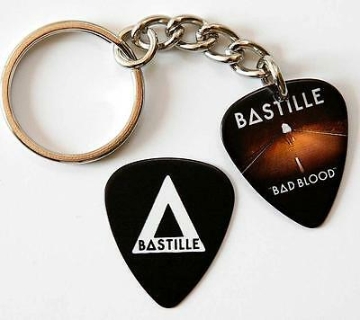 Bastille Double Sided Guitar Pick Keyring plus Matching Plectrum