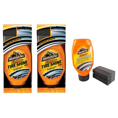 2 x Armorall Extreme Tyre Tire Shine Gel Applicator Protect Rubber Cracking