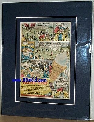 1950's Tastee-Freez Ice Cream Store Tee & Eff MINT AD matted mylar FREE SHIPPING
