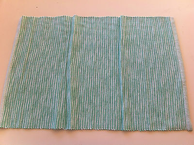 Mint Green and White Zen Rib Placemat - 33 x 48cm