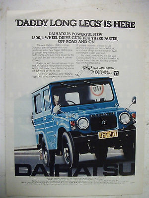 1977 Daihatsu 1600 4 Wheel Drive Fullpage Colour Magazine Advertisement