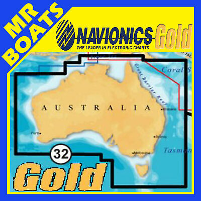 Navionics+ Gold Xl9 50Xg Card - Australia-Wide & Nz Maps Gps Chart -Sd Free Post