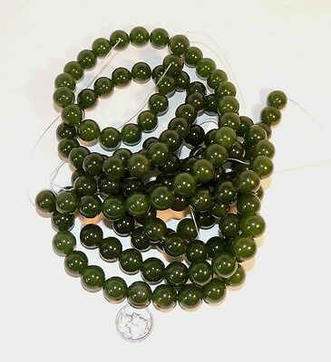 Nephrite Jade Gemstone 12mm Beads  (7192)