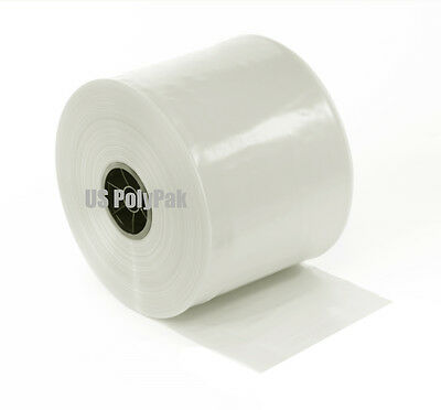 "500' FT 4""x 3-Mil Clear Poly Tubing FDA LDPE Layflat Roll Case ml in inch 003"